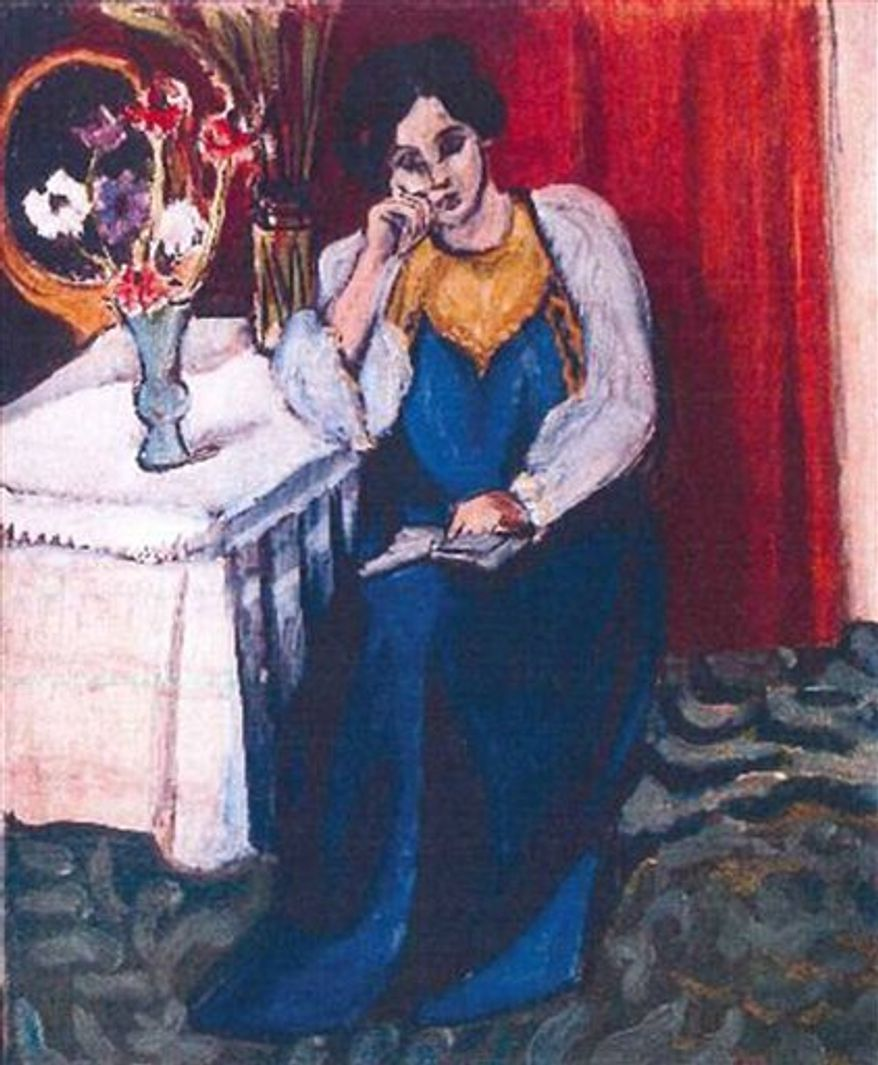 "A Romanian museum is analyzing ashes found in a stove to see if they are the remains of seven paintings by Picasso, Matisse, Monet and others that were stolen last year from the Netherlands. Among the stolen works was Matisse's 1919 ""Reading Girl in White and Yellow"" (pictured). (AP Photo/Police Rotterdam, File)"