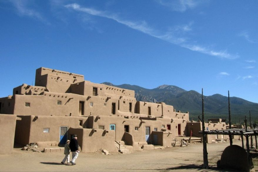 Adobe dwellings at the Taos Pueblo in Taos, New Mexico (Associated Press)