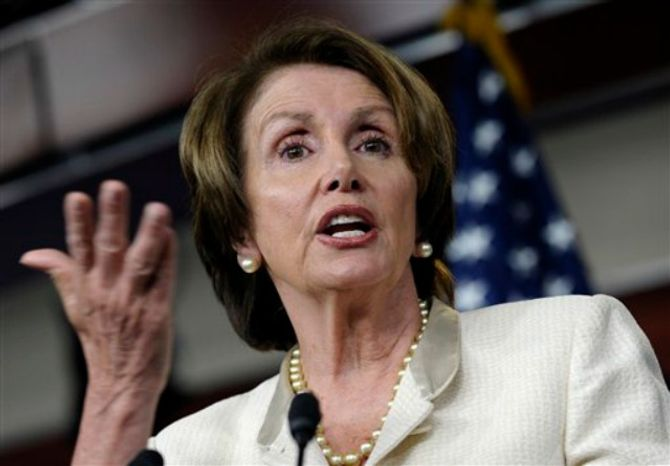 House Minority Leader, Democrat Nancy Pelosi of California, speaks at a Capitol Hill news conference in Washington, June 27, 2013. (Associated Press) ** FILE **