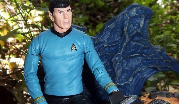 Diamond Select Toys' Mr. Spock based on the Star Trek episode ÒDevil in the Dark.Ó  (Photo by Joseph Szadkowski / The Washington Times)