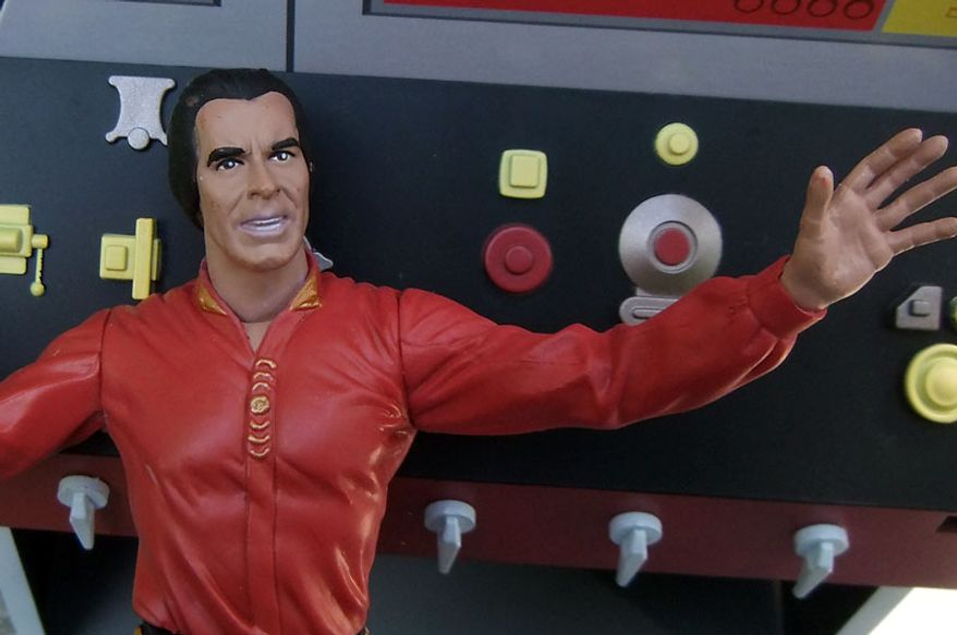 Art Asylum sculpts a decent likeness of actor Ricardo Montalban as Khan in the Diamond Select Toys' Captain Kirk figure set. (Photo by Joseph Szadkowski / The Washington Times)