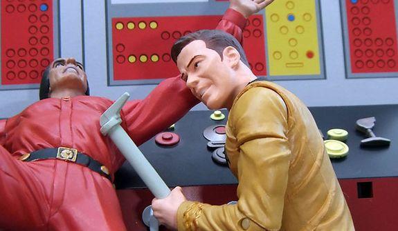 Diamond Select Toys' Captain Kirk clobbers Khan. (Photo by Joseph Szadkowski / The Washington Times)