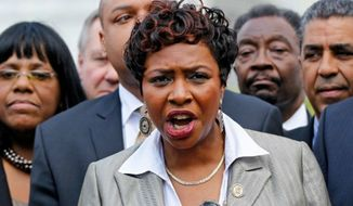 ** FILE ** Rep. Yvette Clarke, D-N.Y. (Associated Press)