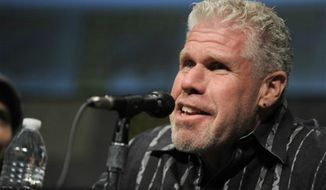 "Ron Perlman speaks at ""Pacific Rim"" panel at Comic-Con on July 14, 2012 in San Diego, Calif. (Associated Press)"
