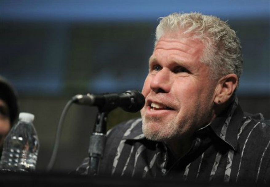 """Ron Perlman speaks at """"Pacific Rim"""" panel at Comic-Con on July 14, 2012 in San Diego, Calif. (Associated Press)"""