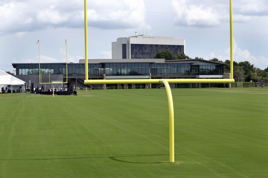 The Washington Redskins NFL football team's new Bon Secours Washington Redskins Training Center had its grand opening Monday, July 8, 2013 in Richmond, Va. (AP Photo/Richmond Times-Dispatch, P. Kevin Morley)