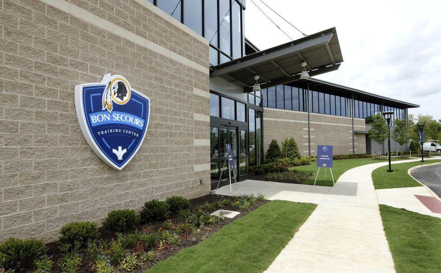 **FILE** The Washington Redskins NFL football team's new Bon Secours Washington Redskins Training Center had its grand opening Monday, July 8, 2013 in Richmond, Va. (AP Photo/Richmond Times-Dispatch, P. Kevin Morley)