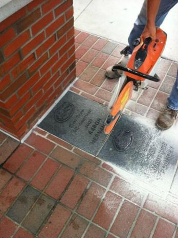 Florida officials removed the brick honoring Aaron Hernandez as an All-America. (credit: Twitter)