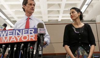 Huma Abedin for mayor? She's been suggested as an alternate candidate for mayor of New York by some political observers in the wake of the sexting scandal involving her husband, Anthony D. Weiner. (Associated Press)