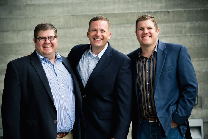 From left: Justin Hyde, Tyler Norton and Cody Hyde of the Hyde-Norton Group work to create companies that become major employers and contribute to their communities through support and engagement in churches, schools, charities and other local institutions. (Russ Dixon)