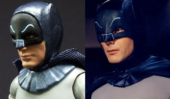 Mattel's Classic TV Series Batman compared to actor Adam West as Batman.