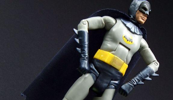 Mattel's Batman: Classic TV Series figure (Photograph by Joseph Szadkowski / The Washington Times)