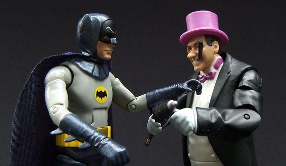 Mattel's Classic TV Series Batman has words with The Penguin. (Photograph by Joseph Szadkowski / The Washington Times)