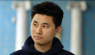 ** FILE ** Daniel Chong speaks news conference where he discussed his detention by the DEA in San Diego, May 1, 2010.  (Associated Press)