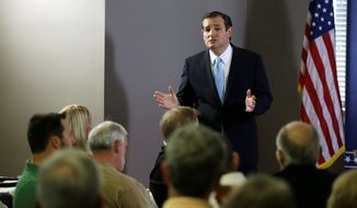 """""""Now is the single best time and best opportunity to defeat Obamacare. No. 2, this is a fight that we can win. And No. 3, only the American people can win this,"""" said Sen. Ted Cruz, Texas Republican. (Associated Press)"""