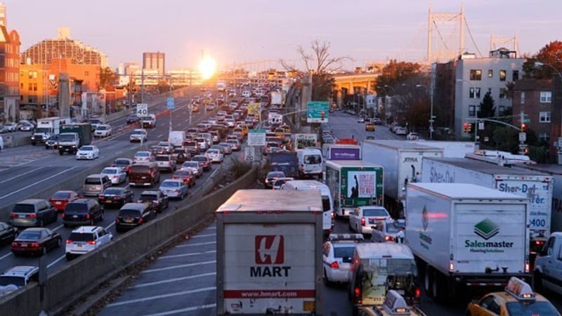** FILE ** Traffic along the Robert F. Kennedy Triboro Bridge in the Queens, N.Y. (Associated Press)