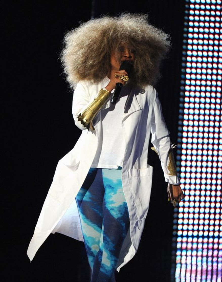 Erykah Badu performs onstage at the BET Awards at the Nokia Theatre on Sunday, June 30, 2013, in Los Angeles. (Photo by Frank Micelotta/Invision/AP)