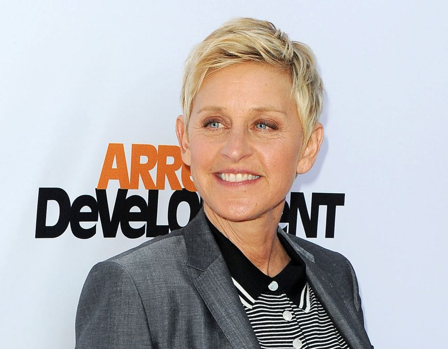 "Producers announced Friday, Aug. 2, that TV host Ellen DeGeneres (shown arriving at the season 4 premiere of ""Arrested Development"" in Los Angeles) will return to host the Oscars on March 2, 2014. (Photo by Katy Winn/Invision/AP, File)"