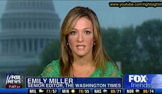 Emily Miller on Fox News. Aug. 3, 2013.