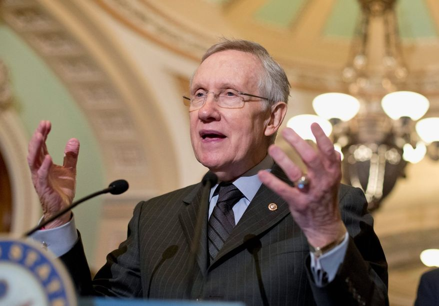 Senate Majority Leader Harry Reid.