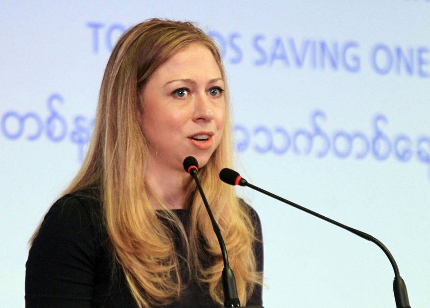 """Chelsea Clinton, former first daughter, already is crafting a consistent message and talking points, a seeming indicator she's drawn to public life. She told CNN she has sought a """"purposefully public life."""" (Associated Press)"""