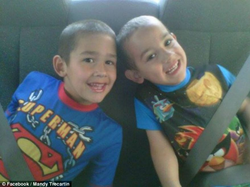 Noah and Connor Barth were strangled by a python during a sleepover. (credit: Facebook/Mandy Trecartin)
