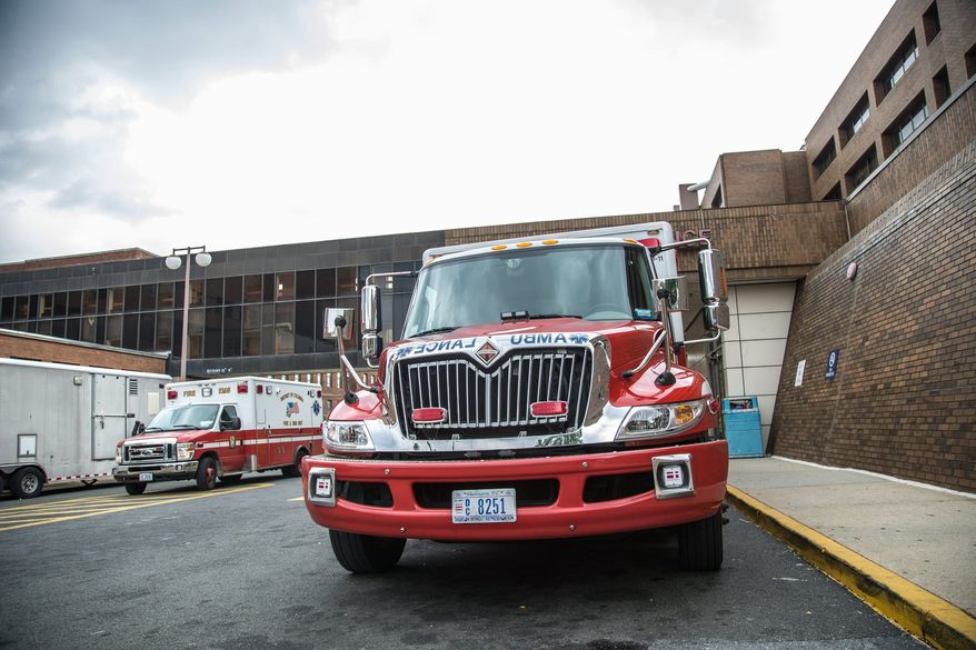 The majority of District of Columbia ambulances needing repairs to air-conditioning units during a July heat wave were returned to service within hours.  A shortage of ambulances that can be put into service has led the District to do some outsourcing to cover special events, such as sporting events, however, at a cost to the city. (Andrew S. Geraci, The Washington Times)