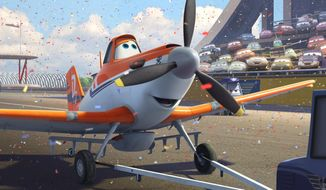 """Dusty, voiced by Dane Cook, in a scene from the animated film, """"Planes."""" (AP Photo/ Disney Enterprises, Inc.)"""