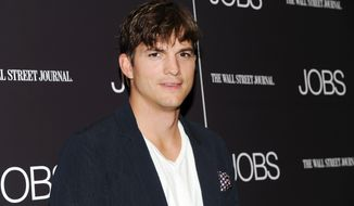 "Actor Ashton Kutcher attends a special screening of ""JOBS"" hosted by the Wall Street Journal at the Museum of Modern Art in New York on Aug. 7, 2013. (Evan Agostini/Invision/Associated Press)"