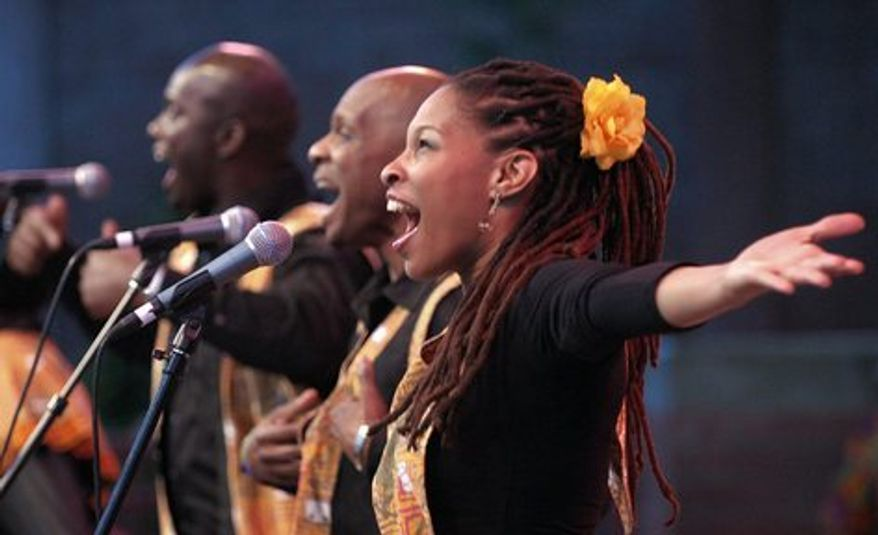In this July 31, 2008 photo, the Harlem Gospel Choir closes Artown 2008 at Wingfield Park, Reno, Nev.. (AP Photo/Reno Gazette-Journal, Andy Barron) **NO SALES, MAGS OUT; NEVADA APPEAL OUT; SOUTH RENO WEEKLY OUT**