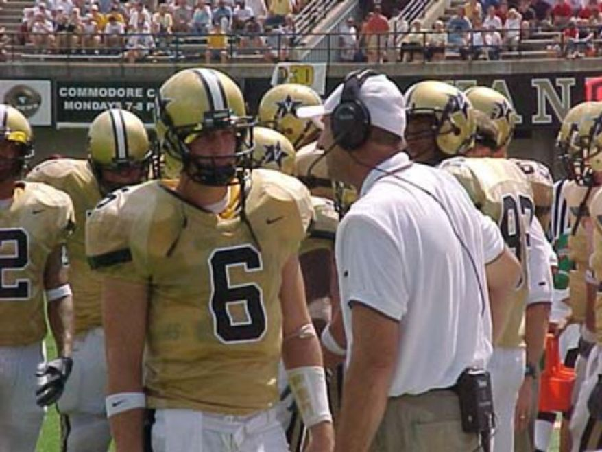 Jay Cutler in his Vanderbilt days.