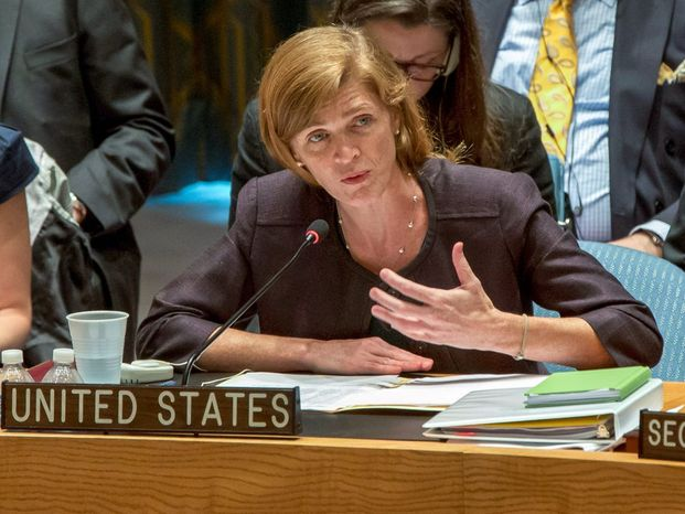 ** FILE ** Samantha Power. (AP Photo/Richard Drew)