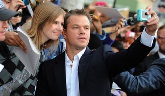 "Actor Matt Damon arrives at the world premiere of ""Elysium"" in Los Angeles on Wednesday, Aug. 7, 2013. (Photo by Jordan Strauss/Invision/AP)"