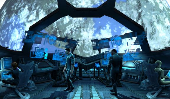The 3rd Street Saints gang and friends try to stop an alien invasion from space in the video game Saints Row IV.