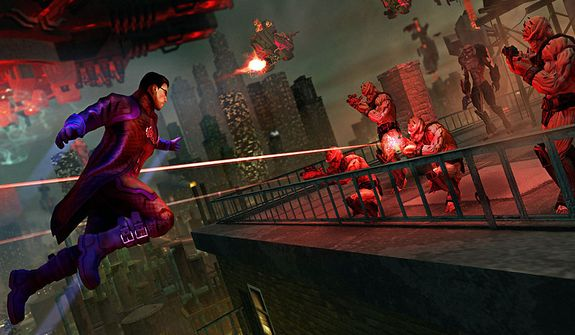 Control a super-powered version of the U.S. president in the video game Saints Row IV.