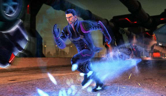 Speed through a city to stop the Zin in the video game Saints Row IV.