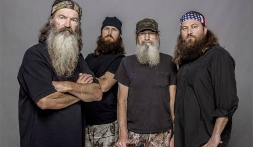 """Phil Robertson, Jase Robertson, Si Robertson and Willie Robertson of the A&E series, """"Duck Dynasty."""" (Associated Press)"""