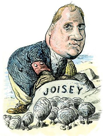 New Jersey Gov. Chris Christie Illustration by Alexander Hunter for The Washington Times