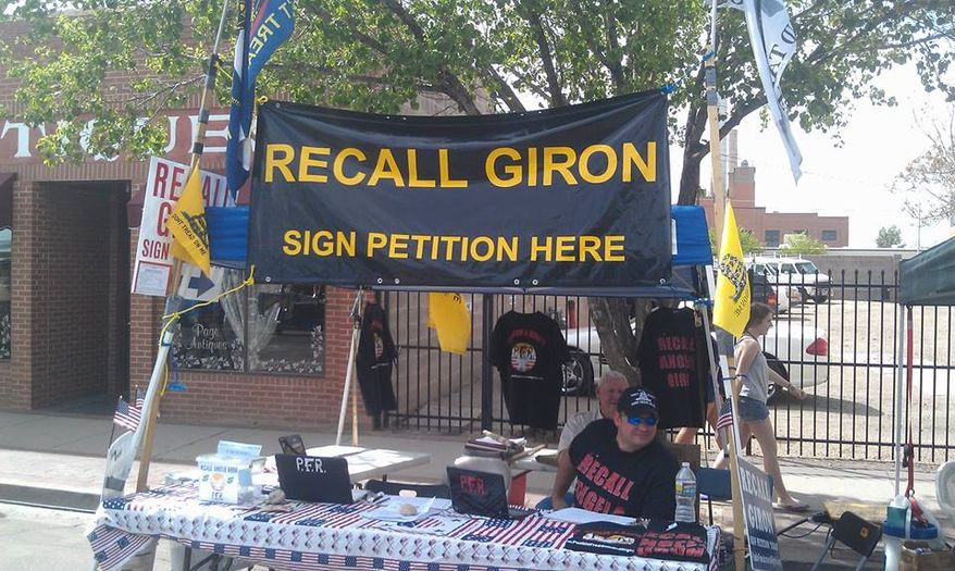 Pueblo Freedom and Rights, a grassroots committee in Pueblo, Colo., is leading a campaign to recall Democratic state Sen. Angela Giron after her gun-control votes. (Courtesy of the group's Facebook page)