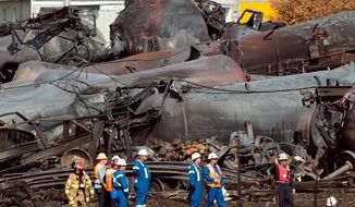 The Federal Railroad Administration established new safety guidelines for trains carrying hazardous materials as a direct result of the July 6 crash in Quebec. (Associated Press)