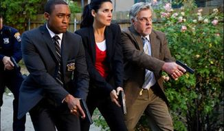 """Lee Thompson Young (left), who co-starred in the TNT series """"Rizzoli & Isles,"""" was found dead in North Hollywood on Aug. 19, police said. (Courtesy of TNT)"""