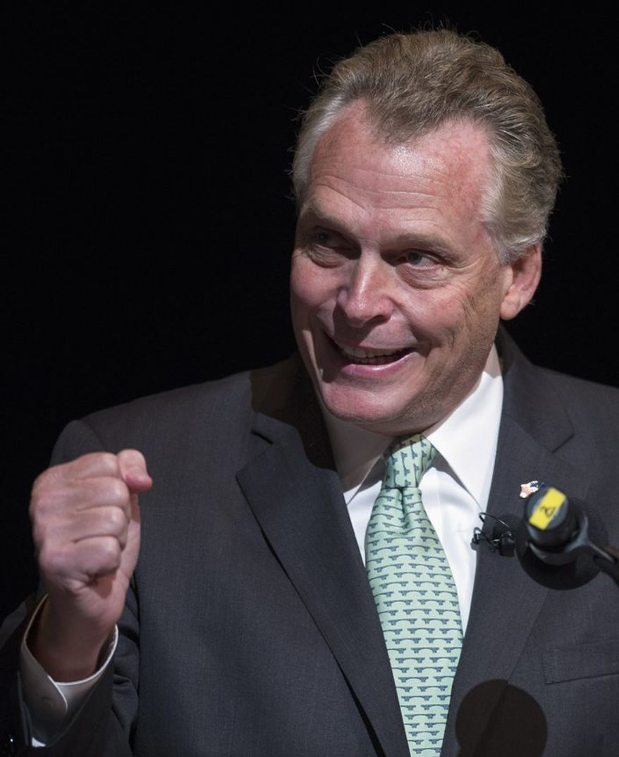 "Gov. Terry McAuliffe, the new Democratic governor, no fan of the civility-in-government movement, calls Mr. Black's measure ""counterproductive and mean-spirited"" and had threatened to veto it if the legislation passed. (AP Photo/Cliff Owen)"