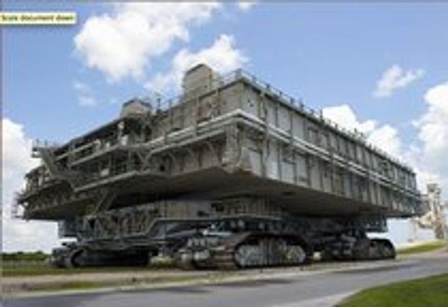 NASA has asked for suggestions on how to re-purpose three mobile launch platforms, built in 1967, that are going unused at Kennedy Space Center in Florida. Each two-story structure weighs around 8.2 million pounds, and is 160 feet long and 135 feet wide.