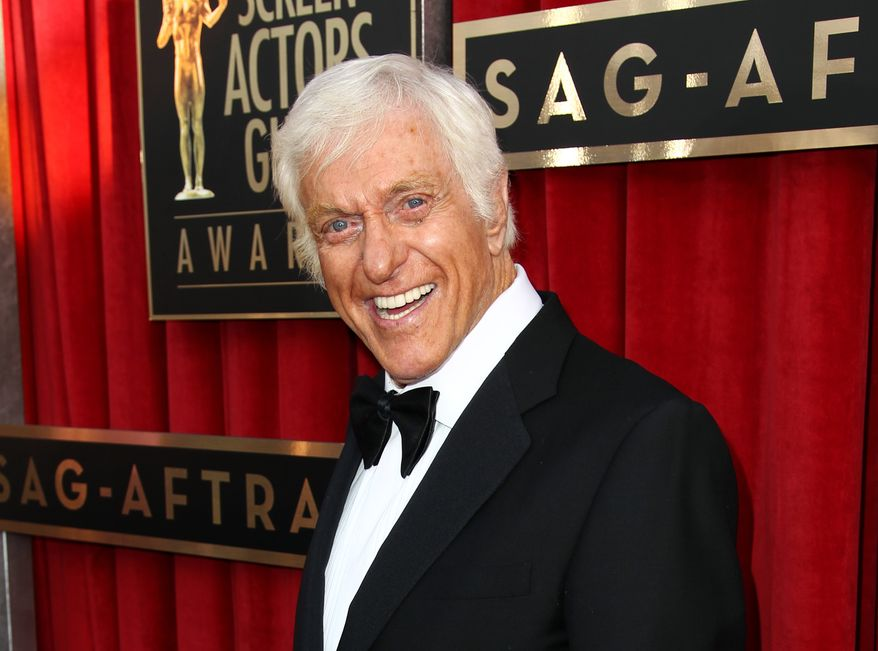 Actor-comedian Dick Van Dyke attends the 19th annual Screen Actors Guild Awards at the Shrine Auditorium in Los Angeles on Sunday, Jan. 27, 2013. (Matt Sayles/Invision/AP)