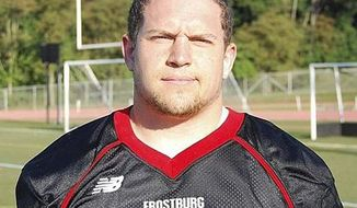Derek Sheely, Frostburg State University football player who died in 2011. (Frostburg State University)