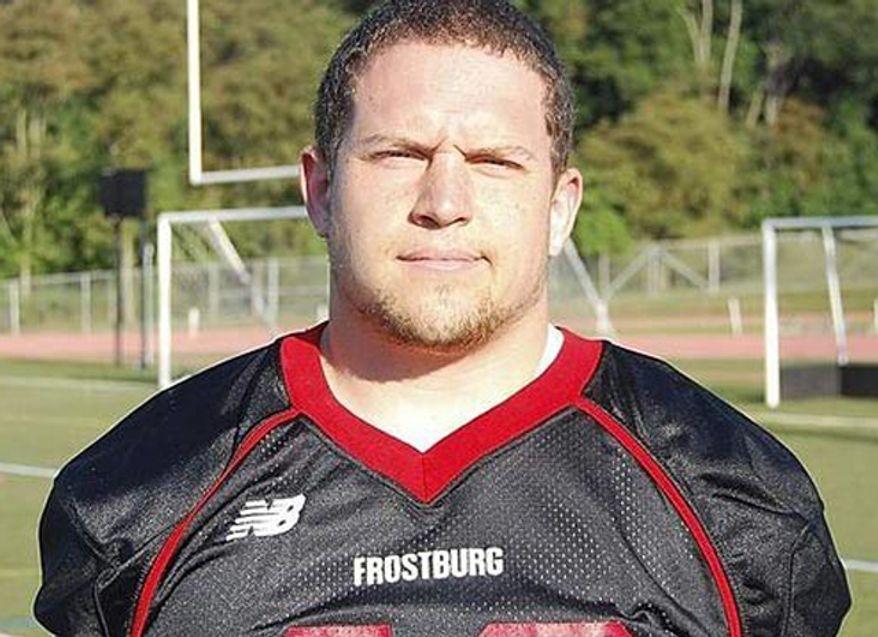 Derek Sheely, Frostburg State University football player who died in 2011. (Frostburg State University)