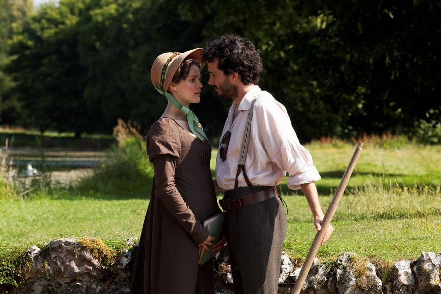 """Keri Russell and Bret McKenzie star as stand-ins for Jane Austen characters in """"Austenland,"""" a meta-fictional retelling of """"Pride and Prejudice."""" The movie was included in the U.S. Dramatic Film competition at the 2013 Sundance Film Festival. (Sundance Institute via Associated Press)"""