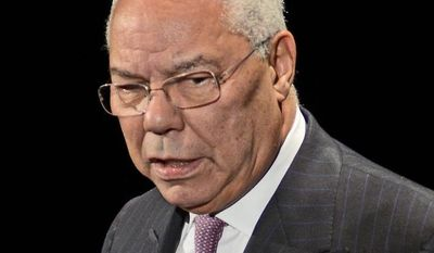** FILE ** Former Secretary of State Colin Powell (AP Photo/Eric Reichbaum)
