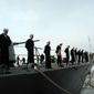 Sailors aboard the USS Barry, a guided-missile destroyer deployed to the Mediterranean. (Credit: U.S. Navy) ** FILE **
