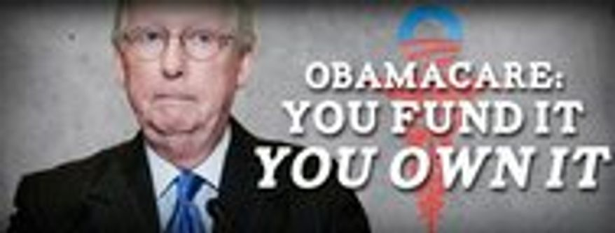 Senate Majority Leader Mitch McConnell of Kentucky is among Republicans feeling pressure to defund Obamacare.